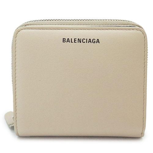 バレンシアガ 折財布 レディース BALENCIAGA 二つ折り財布 レザー ベージュ EVERYDAY BILLFOLD 516366 DLQ0N 2730