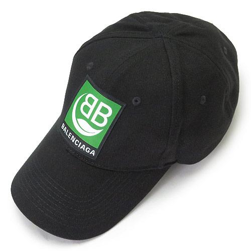 バレンシアガ キャップ BALENCIAGA 593188 310B2 1000 クラシック ベースボールキャップ 帽子 BBロゴ コットン ブラック 黒 【2020年春夏新作】