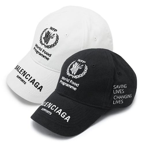 バレンシアガ キャップ BALENCIAGA 540013 310B5 帽子 WFP WORLD FOOD PROGRAMME コットン