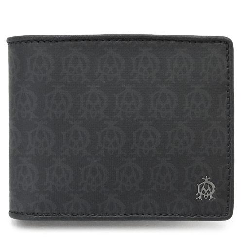 ダンヒル 折財布 DUNHILL メンズ 財布 二つ折り WINDSOR/ウィンザー PVC レザー 黒 ブラック L2PA32A BLACK