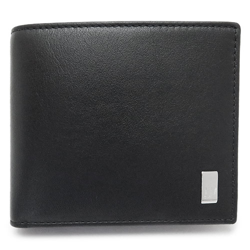 ダンヒル 折財布 DUNHILL メンズ 財布 二つ折り SIDECAR レザー 黒 ブラック QD3070A BLACK
