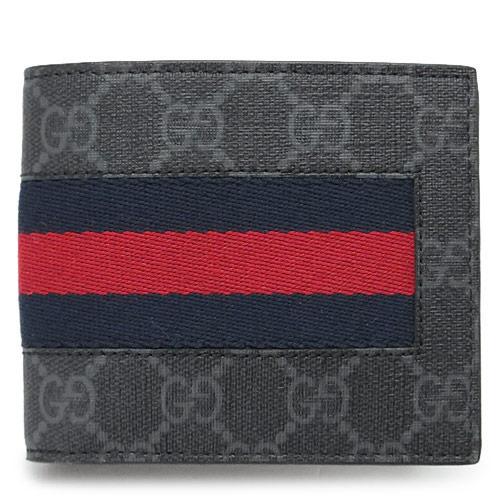 グッチ 折財布 GUCCI 408826 KHN4N 1095 メンズ 財布 二つ折り WEB ウェブ ブラック