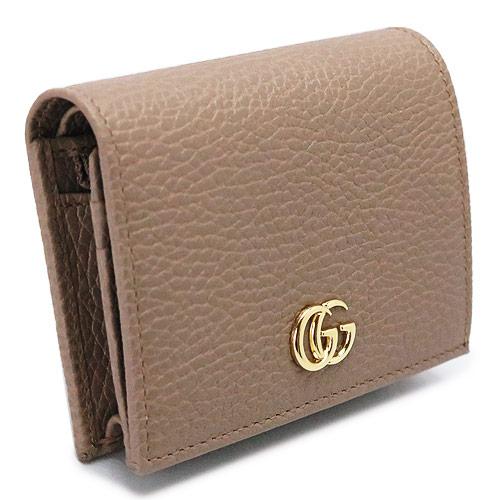 グッチ カードケース GUCCI 456126 CAO0G 5729 レディース コインケース 名刺入れ 財布 プチマーモント レザー ベージュ