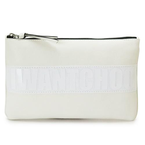 ジミーチュウ ポーチ JIMMY CHOO NINA L ATL WHITE/WHITE クラッチバッグ レディース ニナ セカンドバッグ ロゴ ホワイト 白