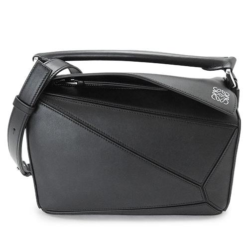 ロエベ バッグ レディース パズル LOEWE ショルダーバッグ レザー ブラック 黒 PUZZLE SMALL BAG 322 30 S21 1100/BLACK