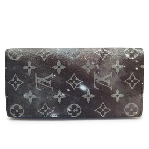 ルイヴィトン 長財布 メンズ M63871 LOUISVUITTON 財布 モノグラム・ギャラクシー ポルトフォイユ・ブラザ キャンバス グレー系 マルチカラー