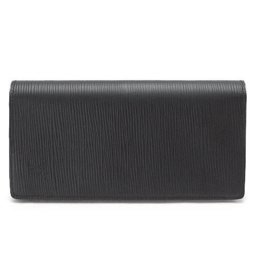 ルイヴィトン 長財布 メンズ LOUISVUITTON 財布 ポルトフォイユ・ブラザ エピ レザー ブラック 黒 M60622