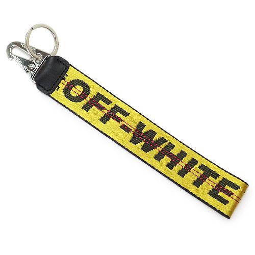 オフホワイト キーホルダー メンズ OFF WHITE イエロー インダストリアル キーリング OMNF001F196470036000【2019年秋冬新作】