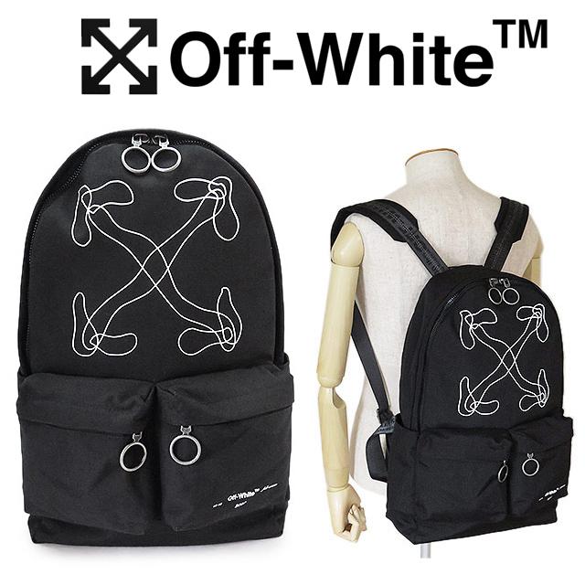 オフホワイト リュック メンズ OFF WHITE バックパック ブラック アローズ OMNB003F19C360111001【2019年秋冬新作】