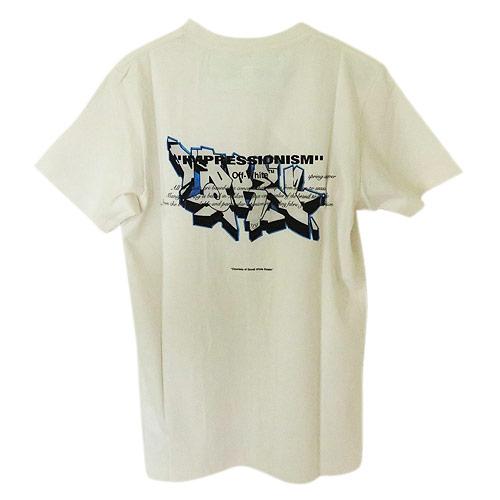 オフホワイト Tシャツ 半袖 メンズ OFF WHITE コットン ホワイトマルチ DONDI GRAFFITI S/S SLIM TE OFF OMAA027R19185005 0288/WHITE MULTI【2019年春夏新作】