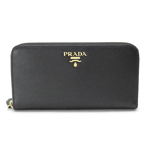 プラダ 財布 1ML506 QWA F0002/SAFFIANO METAL NERO レディース 長財布 ラウンドファスナー ブラック 黒 PRADA