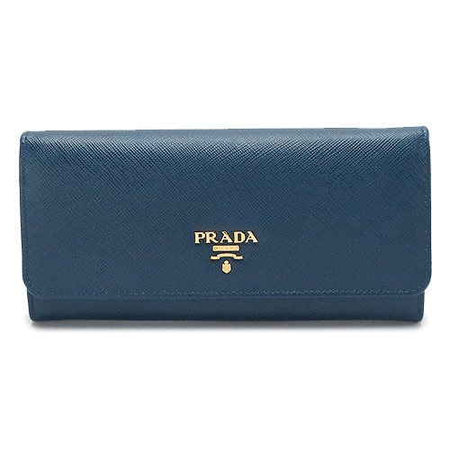 プラダ 長財布 PRADA 財布 二つ折り サフィアーノメタル パスケース付 レザー ブリエッタ 1MH132 QWA F0016/SAFFIANO METAL BLUETTE