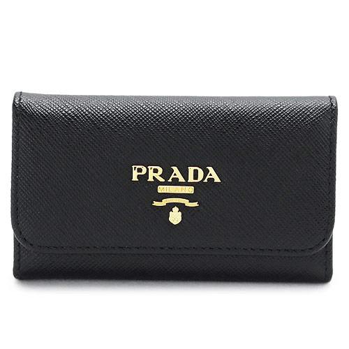 プラダ キーケース PRADA ブラック 黒 1PG222 QWA F0002/SAFFIANO METAL NERO【I LOVE BRAND/】【gift_d18】