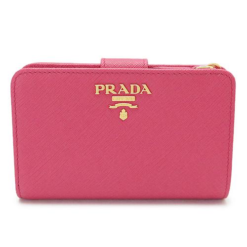プラダ 折財布 レディース PRADA 1ML225 QWA F0505/SAFFIANO METAL PEONIA 二つ折り 財布 ペオニア