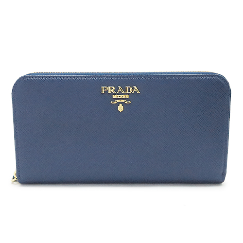 プラダ 長財布 PRADA 1ML506 QWA F0016/SAFFIANO METAL BLUETTE ブリエッタ
