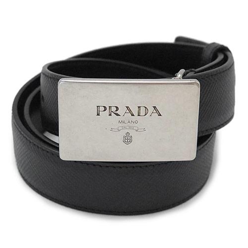 【訳あり】 プラダ ベルト メンズ 2CM145 2FAD F0002 レザー ブラック 黒 PRADA SAFFIANO CUIR NERO