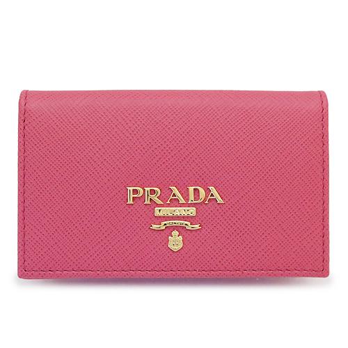 プラダ カードケース PRADA 1MC122 QWA F0505/SAFFIANO METAL PEONIA レディース 名刺入れ レザー ペオニア