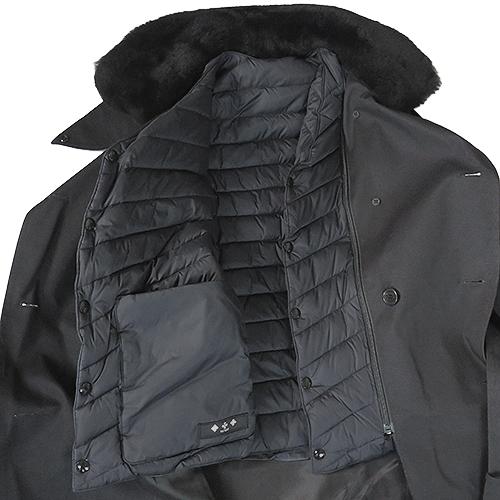 タトラス トレンチコート MTK19A4150 19 BLACK メンズ TATRAS VEZZANO ブラック 黒