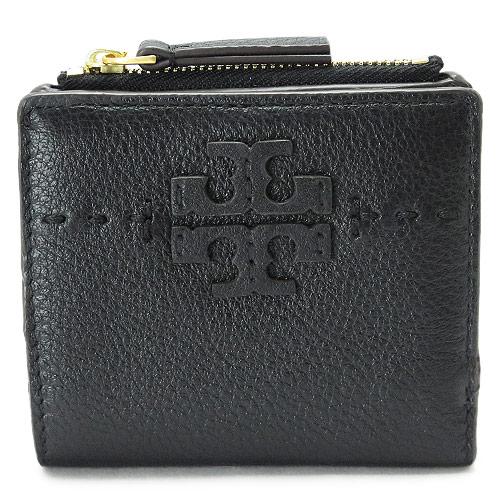 トリーバーチ 折財布 レディース TORYBURCH ミニ財布 レザー 黒 ブラック 45246 001/BLACK