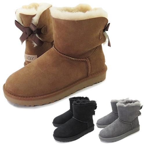 アグ ブーツ UGG ムートンブーツ MINI BAILEY BOW II 1016501 レディース リボン ミニ ベイリー ボウ 靴 ミニ丈ブーツ