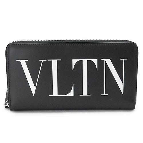 ヴァレンティノ 長財布 VALENTINO メンズ VLTN ラウンドファスナー 財布 レザー ブラック QY0P0570 LVN 0NO/NERO
