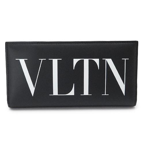 ヴァレンティノ 長財布 VALENTINO メンズ VLTN 二つ折り 財布 レザー ブラック QY2P0678 LVN 0NO/NERO