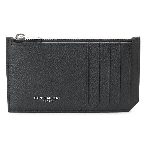 サンローランパリ カードケース YSL/SLP SAINT LAURENT PARIS コインケース レザー ブラック 黒 458583 B680N 1000【I LOVE BRAND/】