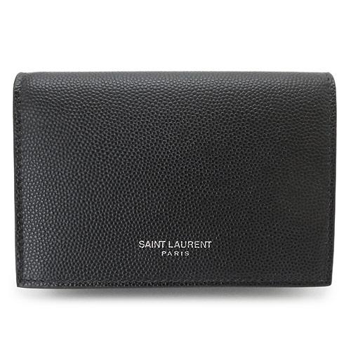 サンローラン SAINT LAURENT カードケース メンズ 469338 ファッション通販 BTY7N 1000 ビジネスカードケース ブラック 永遠の定番モデル PARIS 黒 2021年春夏新作 名刺入れ レザー