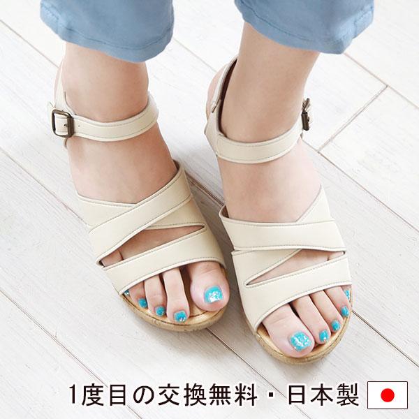 厚底ヒールサンダル コルク柄 ウエッジヒール ストーム シンプル ストラップ 痛くない 走れる レディース 婦人靴 オリジナル Sofa 安心の定価販売 日本製 CSF and S5688Belle チープ