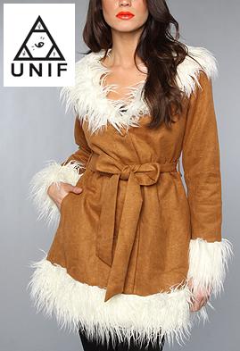 スーパーセール特別価格 UNIF Clothing ユニフ The Bridget Coat ファーコート ロングコート  正規品取扱店舗