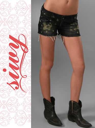 siwy シーウィー Camilla Denim Shorts JETゴールドラメ加工ショートデニム  正規品取扱店舗