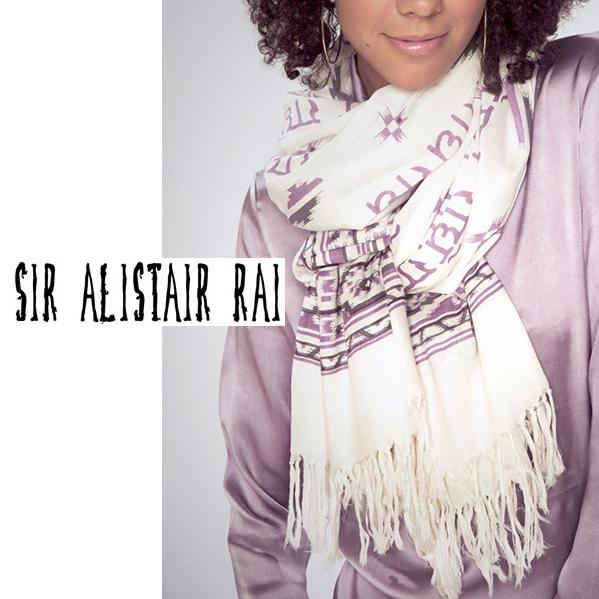 Sir Alistair Rai ・サーアリステアレイ Tri-Mantra Love ビックエスニックストール 大判ストール  正規品取扱店舗