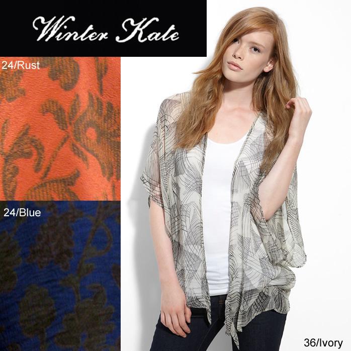 OUTLET Winter Kate ウィンターケイト GINGER SILK CHIFFON NRJ110 カーディガン ニコールブランド  正規品取扱店舗
