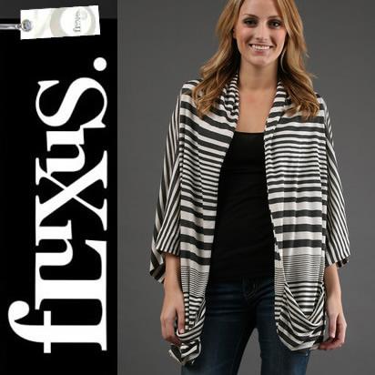 フルクサス Fluxus Zannie Wrap 107-633 ドルマンスリーブカーディガン ボーダー  正規品取扱店舗