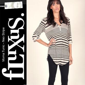 フルクサス Moma Tunic - Neo Stripe ボーダーチュニック リネン混 チュニック ワンピース 107-902  正規品取扱店舗