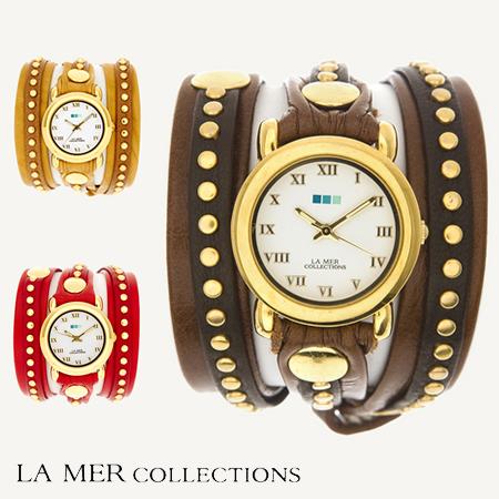 LA MER COLLECTIONS ラメールコレクション Bali Stud wra LMLW3001-3005 ブレスレット スタッズ デザインウォッチ キュート レディース 腕時計  正規品取扱店舗