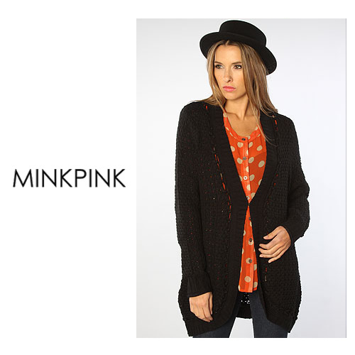 MINK PINK ミンクピンク The Have A Yarn Cape Cardigan ニットカーディガン  正規品取扱店舗