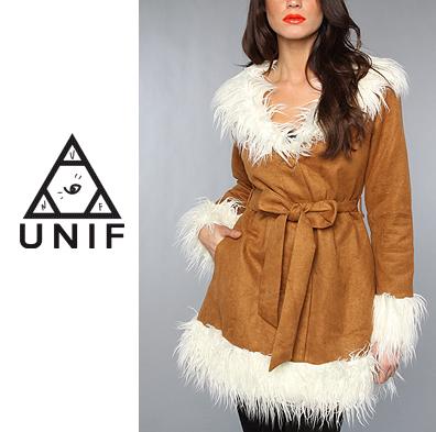 UNIF Clothing ユニフ The Bridget Coat ファーコー スエード風コー コート  正規品取扱店舗