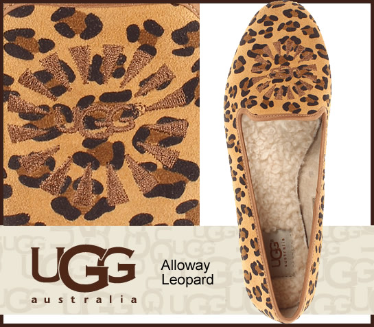 aca69e79efd ▼1004784 latest model arrival ▼ UGG Australia W ALLOWAY LEOPARD  アグアロウェイレオパード opera shoes / flat / mouton / sheepskin /s