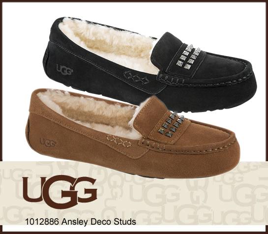 UGG アグ Ansley Deco Studs アンスレー デコ スタッズ 1012886 モカシン フラットシューズ 正規品取扱店舗  so1