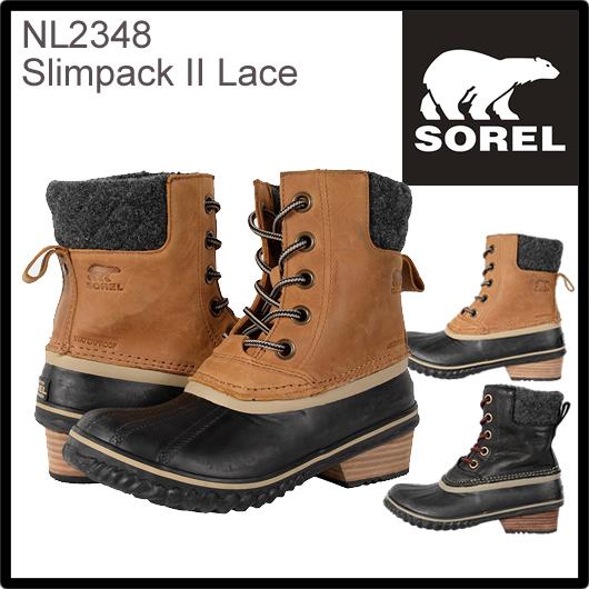 SOREL ソレル スリムパック II レース SLIMPACK II LACE NL2348 レディース 防寒ブーツ 雪靴 スノーブーツ ウィンターブーツ アウトドアブーツ  正規品取扱店舗  so1