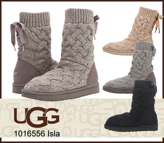 UGG アグ ISLA 1016556 イスラ ニットブーツ ムートン ブーツ 正規品  正規品取扱店舗  so1