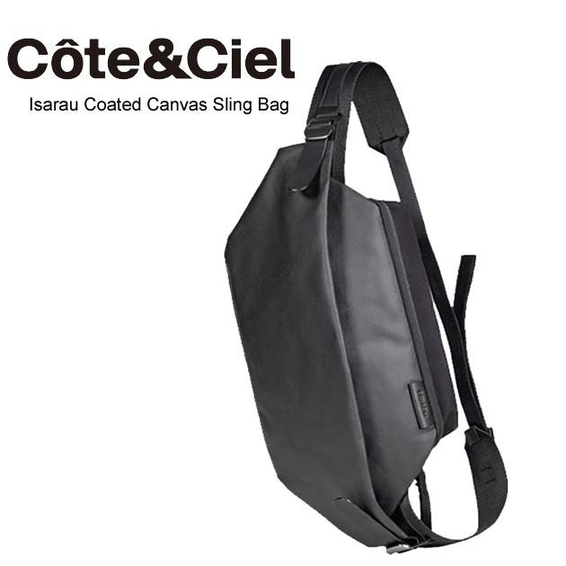 スーパーセール特別価格 Cote&Ciel コートエシエル ISARAU Coated Canvas Black メッセンジャーバッグ ショルダーバッグ 28395  正規品取扱店舗