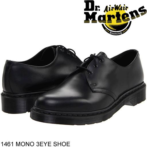 ドクターマーチン Dr Martens 3アイ ギブソン ブラック モノカラー シューズ カジュアルシューズ 1461 MONO 3EYE SHOE ローカット レザー 本革 スムースレザー メンズ 正規品取扱店舗 R14345001 so1