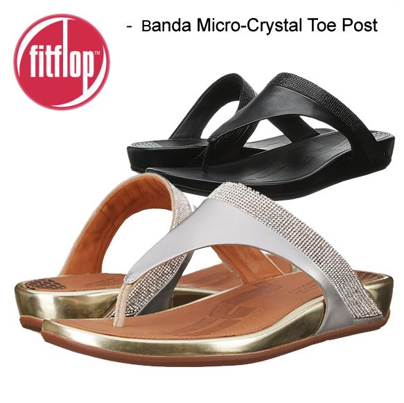 fitflop フィットフロップ BANDA MICRO-CRYSTAL TOE-POST バンダマイクロクリスタル トーポスト サンダル エクササイズ シェイプアップサンダル ダイエット 正規品取扱店舗  so1