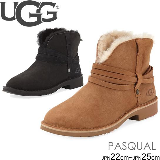 アグ UGG ストラップショートブーツ ムートンブーツ PASQUAL シープスキン アンクルブーツ 正規品取扱店舗 so1