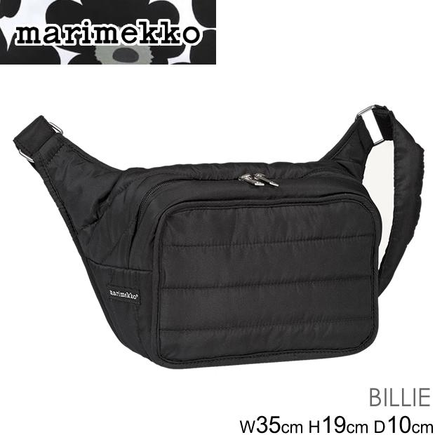 マリメッコ ショルダーバッグ MARIMEKKO Billie bag 045494 ビリー ボディバッグ レディース BLACK ブラック 黒 斜め掛け シンプル 正規品取扱店舗 コンビニ受取対応商品
