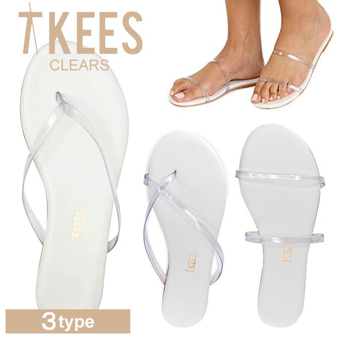 スーパーセール特別価格 TKEES ティキーズ レディース 女性用 シューズ 靴 サンダル ビーチサンダル TKEES Clears LILY RILEY GEMMA クリア ストラップ ティーキーズ