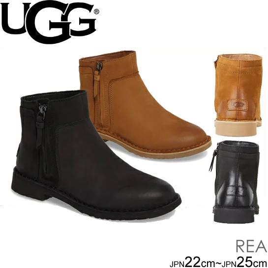 スーパーセール特別価格 UGG アグ レア アンクルブーツ ブーティ Women's REA 1017503 CLASSIC DRESDEN クラシック ドレスデン 2カラー レディース シープスキン 正規品取扱店舗