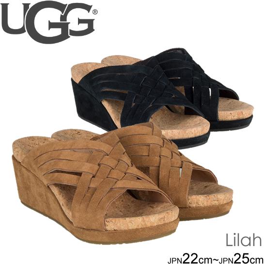 UGG アグ サンダル Lilah ライラ ウェッジソール レザーサンダル 1019976 正規品取扱店舗  so1